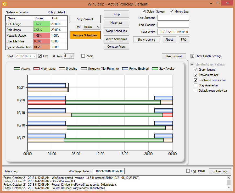 Screenshot for WinSleep by MollieSoft 1.4.3.0